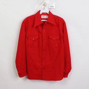 60s Knockabout Pendleton Mens 16 Wool Shirt Red